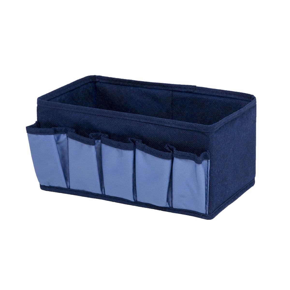 Органайзер для хранения косметики и мелочей Homsu Bluе Sky, 25 х 15 х 12 смHOM-55Органайзер Homsu Bluе Sky выполнен из полиэстера и предназначена для хранения вещей. Изделие защитит вещи от повреждений, пыли, влаги и загрязнений во время хранения и транспортировки. Органайзер идеально подходит для хранения детских вещей и игрушек. Жесткий каркас из плотного толстого картона обеспечивает устойчивость конструкции. Размер: 25 х 15 х 12 см.