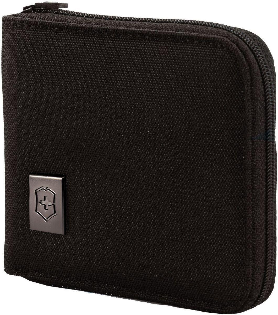 """Бумажник Victorinox """"Tri-Fold Wallet"""", на молнии, цвет: черный. 31172601"""