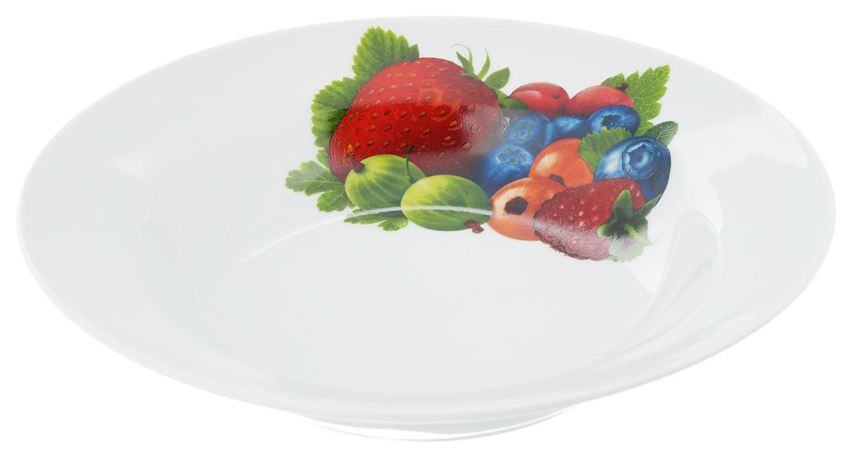 Тарелка глубокая Идиллия. Ассорти, диаметр 24 см1303882Глубокая тарелка Идиллия. Ассорти выполнена из высококачественного фарфора и украшена ярким рисунком. Она прекрасно впишется в интерьер вашей кухни и станет достойным дополнением к кухонному инвентарю. Тарелка Идиллия. Ассорти подчеркнет прекрасный вкус хозяйки и станет отличным подарком.