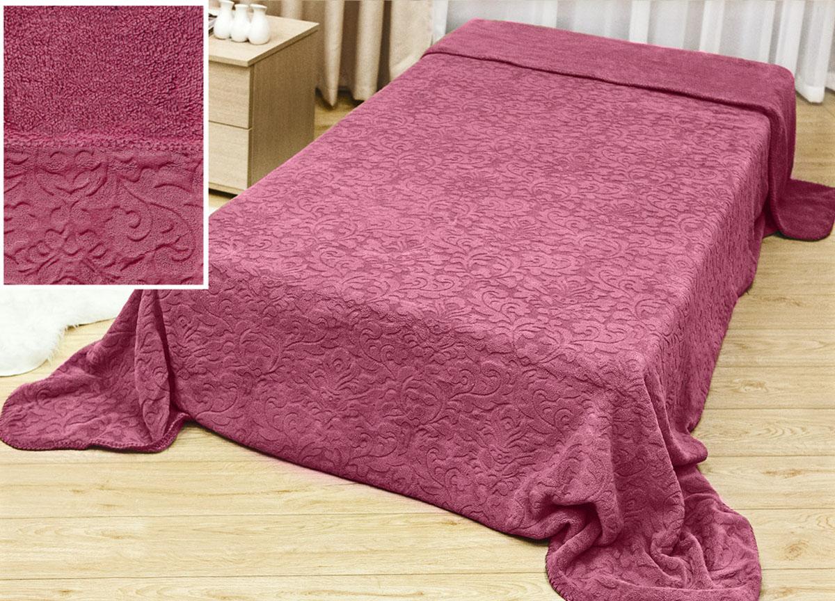Плед Аbsolute Lux, тесненый на меху, цвет: розовый, 180 х 230 см. 61144E1004750плотность 445 гр/м2