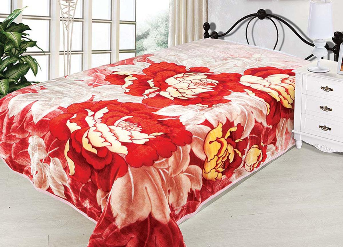 Плед Tamerlan, стриженый, цвет: розовый, красный, 160 х 220 см. 7451174511плотность 600 гр/м2