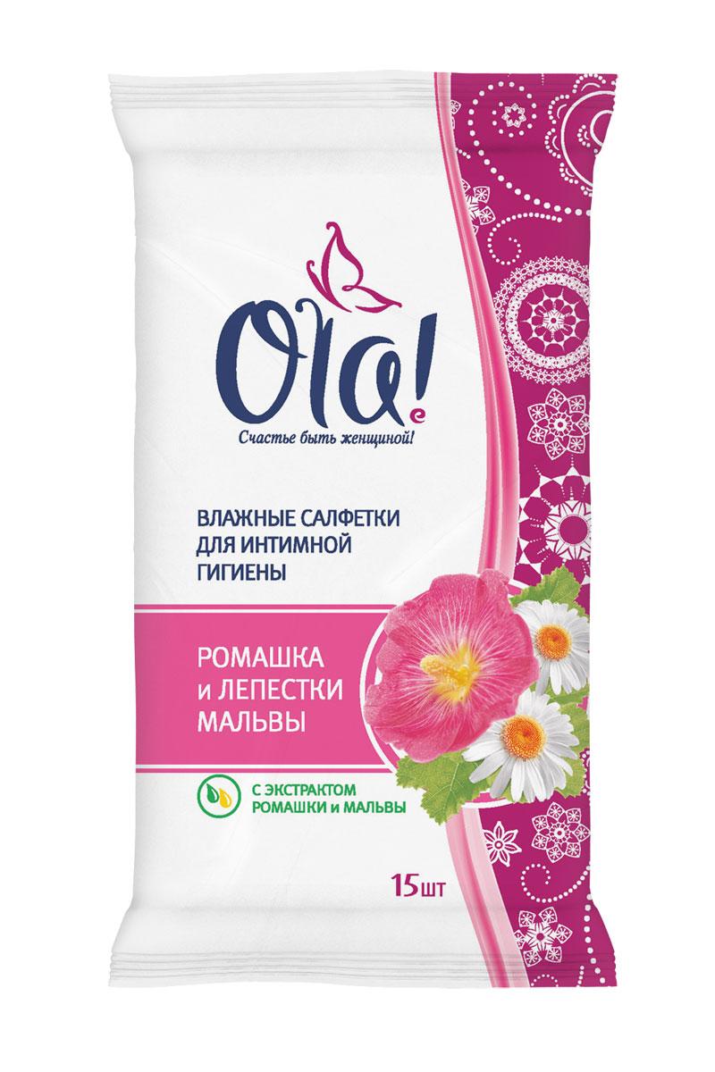 Ola! Влажные очищающающие салфетки для интимной гигиены