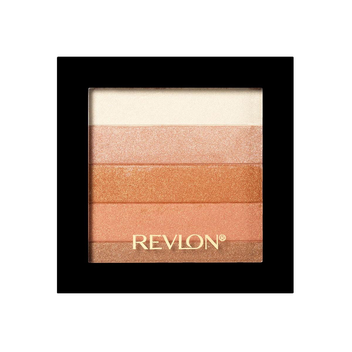 Revlon Палетка Хайлайтеров для Лица Highlighting Palette Bronze glow 030 40 г1301210Revlon Highlighting Palette - это пленительная гамма цветов, представленных в одной палетке. Входящие в ее состав сияющие оттенки чудесным образом гармонируют друг с другом, освежая цвет лица и придавая ему оттенок легкого загара. Используйте палетку хайлайтеров для того, чтобы с помощью мерцающих частиц зрительно улучшить внешний вид кожи, придав ей свечение.нанесите хайлайтер с помощью кисти на выступающие части лица: верхнюю часть скул, спинку носа, галочку над верхней губой.