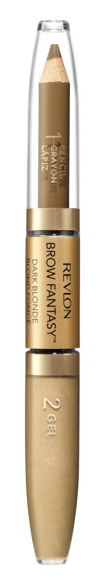 Revlon Карандаш И Гель для Бровей Colorstay Brow Fantasy Pencil & Gel Blonde 104 14 г57201Карандаш и гель для бровей Brow Fantasy окрашивает, оформляет и фиксирует форму бровей, в течение всего дня придавая им красивый и ухоженный вид. Благодаря этому уникальному и практичному средству вы создадите желаемый образ: акцентированную, чётко очерченную линию брови, или же мягкий и естественный вид. Начните нанесение грифельной частью карандаша, следуя естественной дуге брови, заполняя пространства между волосками. Тонированный гель фиксирует форму бровей и придаёт линии ещё более чёткую очерченность. Как карандаш, так и гель можно наносить либо в небольшом количестве, либо в несколько слоёв - в зависимости от того образа, который вы хотите создать.Аккуратно подвести брови вдоль роста