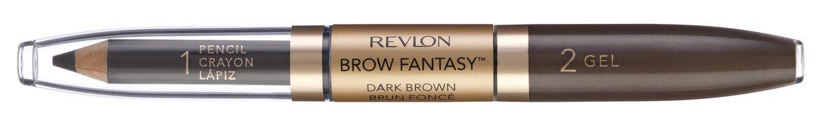 Revlon Карандаш И Гель для Бровей Colorstay Brow Fantasy Pencil & Gel Dark brown 106 14 г 7212842004