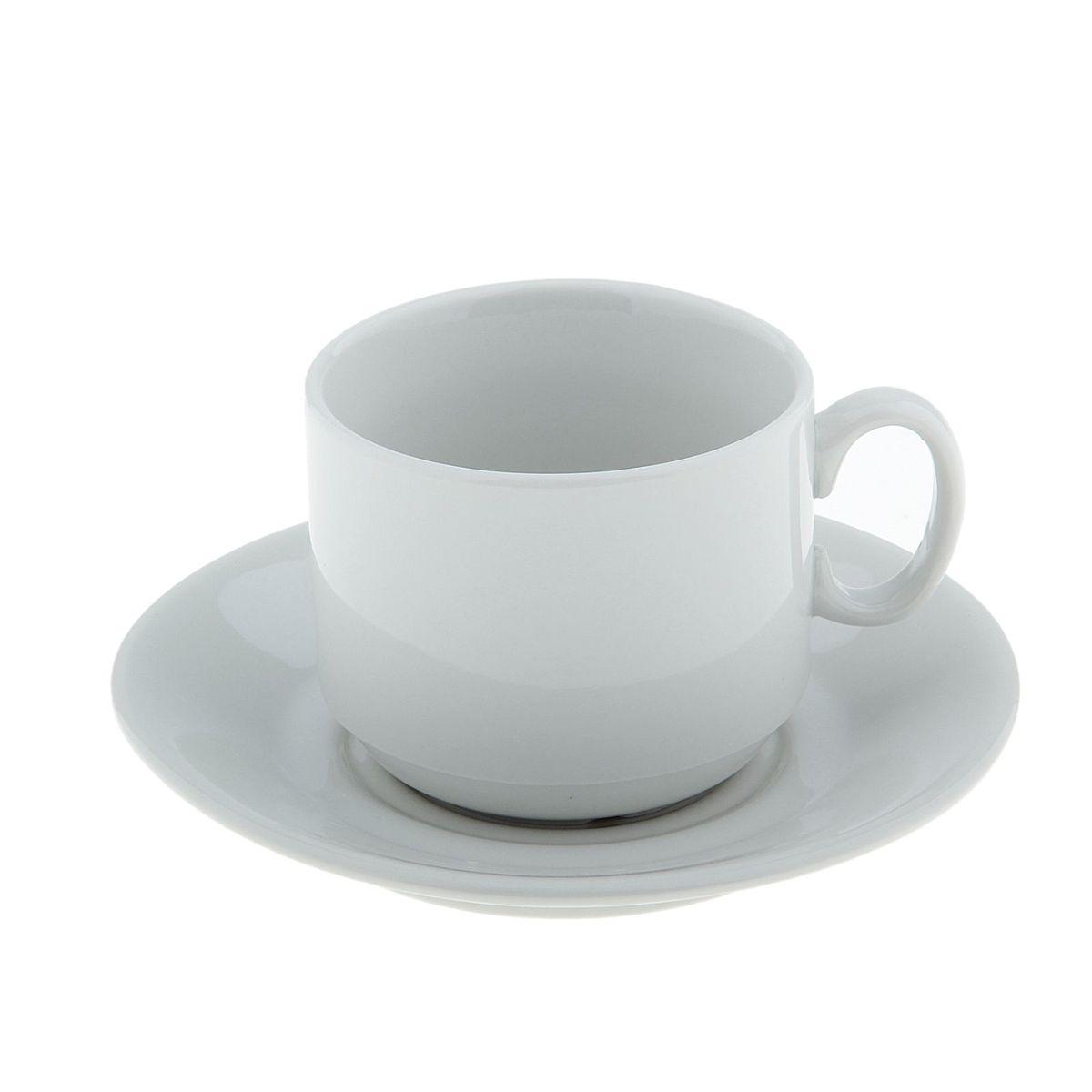 Чайная пара Экспресс. Белье, 2 предмета115510Чайная пара 220 мл, ф. 287, Экспресс белье чашка+ блюдце