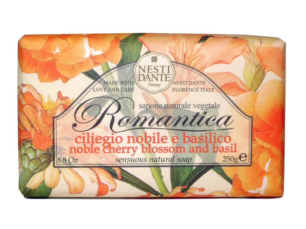 Мыло Nesti Dante Romantica. Вишневый цвет и базилик, 250 г784039Натуральное мыло премиум-класса Nesti Dante Romantica. Вишневый цвет и базилик - два букета, бережно отобранные самые романтичные и эмоциональные ароматы, самые незабываемые моменты нашей жизни в магии цветов провинции Тоскана. Вишневые лепестки и пряно-сладкий свежий аромат базилика напомнят благоухание цветущего весеннего сада. Изысканная флорентийская бумага, в которую завернуто мыло, расписана акварелью, на каждом кусочке мыла выгравирована надпись With Love And Care (С любовю и заботой). Характеристики:Вес: 250 г. Производитель: Италия. Товар сертифицирован.Nesti Dante - одна из немногих итальянских мыловаренных фабрик, которая продолжает использовать в производстве только натуральные ингредиенты и кустарный способ производства. Тщательный выбор каждого ингредиента в отдельности позволяет использовать ценное сырье, такое как цельные нейтральные растительные и животные жиры и эти качественные материалы позволяют получать более обогащенное и более мягкое мыло благодаря присутствию фракции глицерида в жирах.