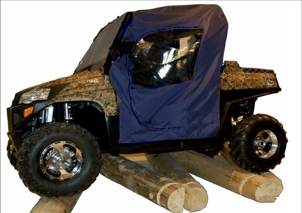 Текстильная кабина AG-brand Stels 800H, цвет: синийAG-STS-UTV-800H-Cab-600Обеспечивается защиту водителя и пассажира от суровых погодных условий. Имеет боковые, заднее и переднее окно из морозостойкой прозрачной ПВХ пленки. Двери и переднее окно закрываются/открываются на молнии. Высококачественнаяя ткань с полиуретановым покрытием. Простая установка с помощью липучек и строп.
