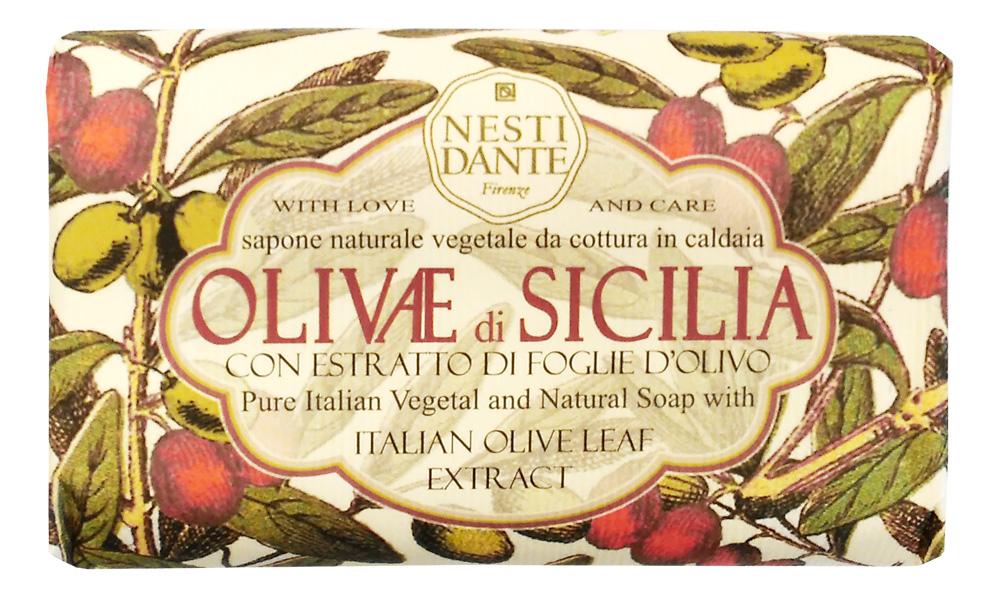Nesti Dante Мыло Olivae di Sicilia - Сицилийская олива 150г1328106Оливковое дерево – это символ жизни, мудрости, процветания, мира и долголетия. В знак признания к этому замечательному дереву Nesti Dante создал три вида мыла, вдохновленные сортами оливок из разных регионов Италии Мыло Сицилийская олива