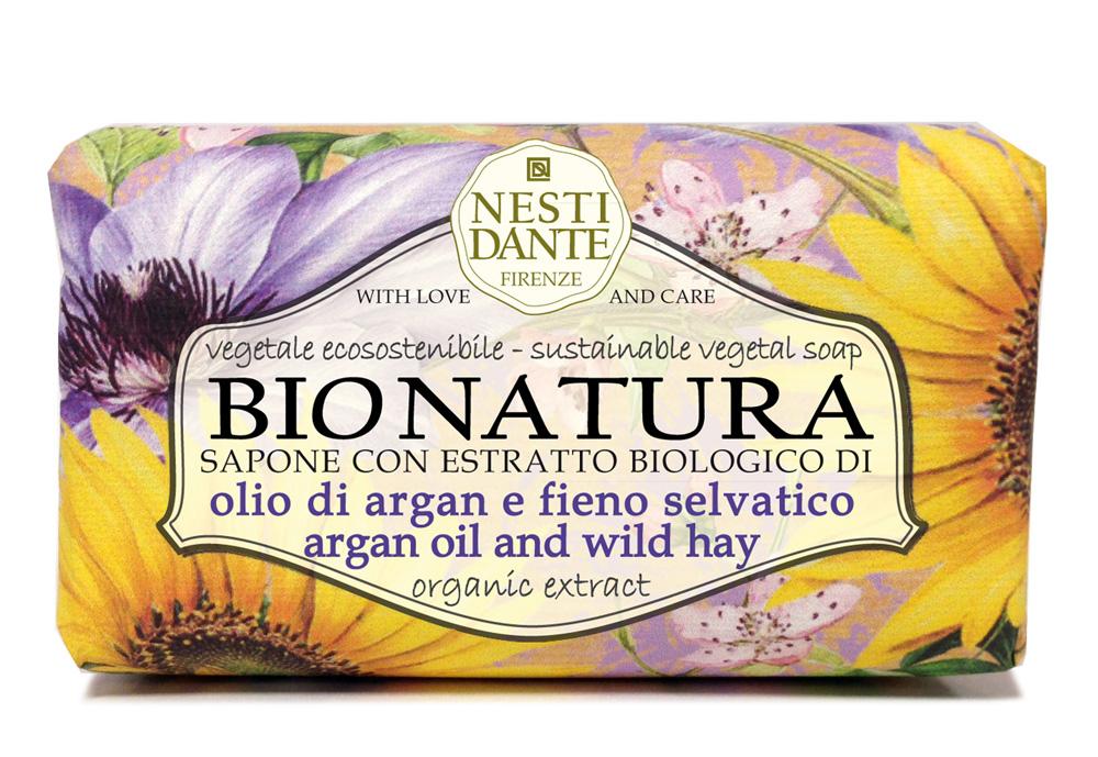 """Nesti Dante Мыло Bionatura. Масло Аргании и альпийские травы, 250 г1343106Мыло Nesti Dante """"Bionatura"""" - натуральное мыло, в состав которого входят ингредиенты, выращенные и собранные в экологически чистых условиях. Мыло Nesti Dante """"Bionatura"""" обогащено маслом Аргании и экстрактами альпийских трав. Масло Аргании обладает питательными и регенерирующими свойствами, увлажняет кожу, делает ее гладкой и шелковистой. Альпийские травы тонизируют и заряжают энергией. Изысканная флорентийская бумага, в которую завернуто мыло, расписана акварелью, на каждом кусочке мыла выгравирована надпись With Love And Care (С любовью и заботой). Товар сертифицирован."""