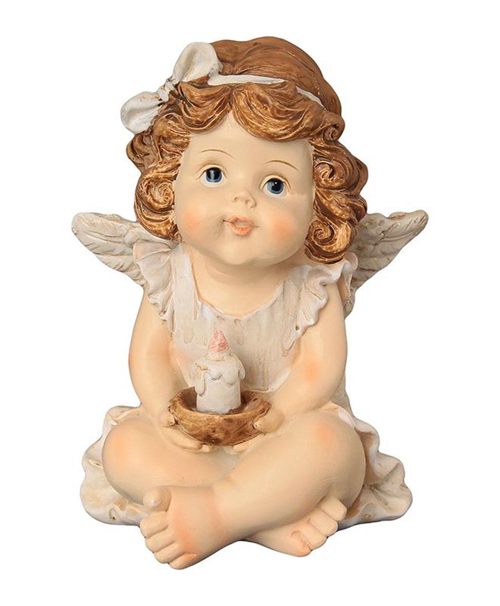 Фигурка декоративная Elan Gallery Ангелочек со свечкой, высота 11 см670139Декоративные фигурки - это отличный способ разнообразить внутреннее убранство вашего дома. Декоративная фигурка с изображением ангелочка станет прекрасным сувениром, который вызовет улыбку и поднимет настроение. Фигурка выполнена из полистоуна.