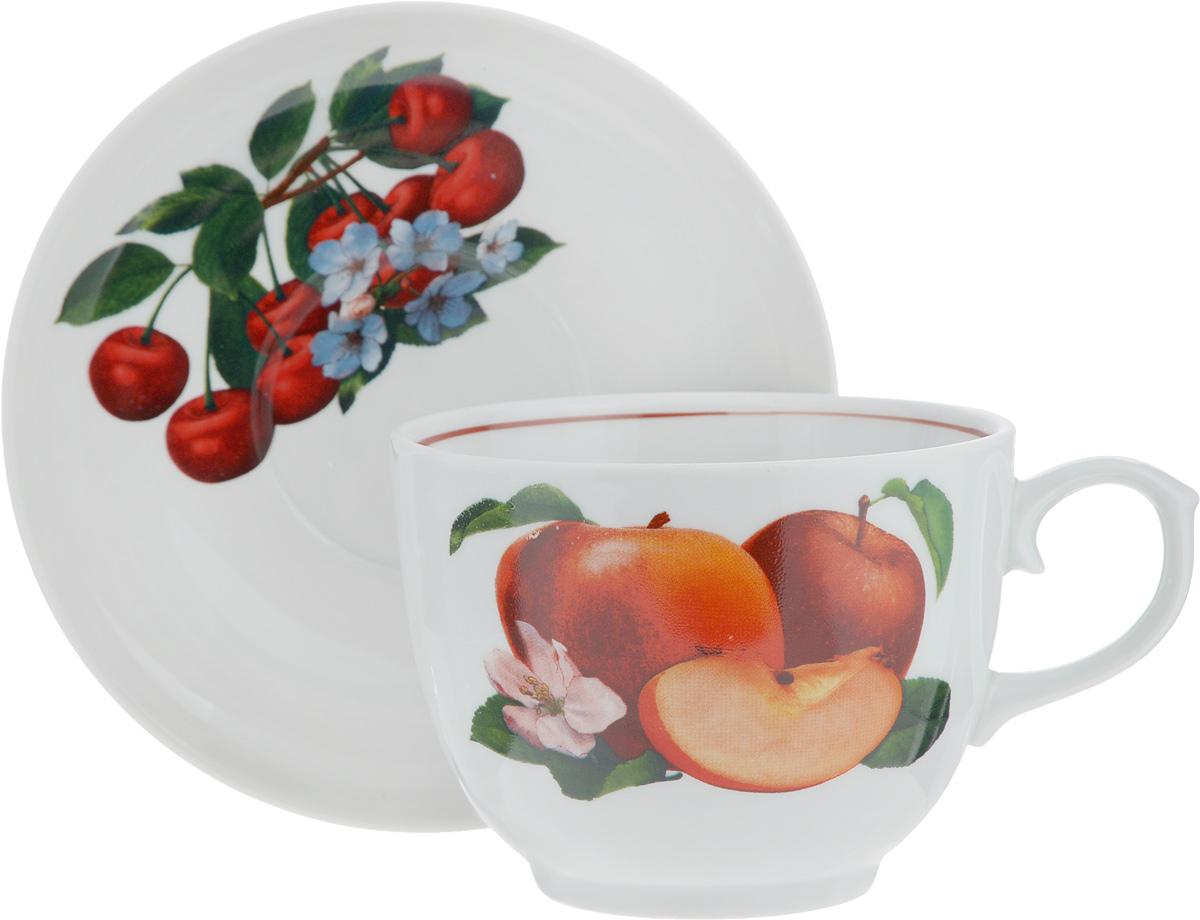 Чайная пара Ассорти сборная, 2 предмета1303816Чайная пара Ассорти сборная состоит из чашки и блюдца, изготовленных из высококачественного фарфора. Оригинальный дизайн изделий, несомненно, придется вам по вкусу. Чайная пара Ассорти сборная украсит ваш кухонный стол, а также станет замечательным подарком к любому празднику. Диаметр чашки (по верхнему краю): 11,6 см. Высота чашки: 8,7 см. Диаметр блюдца (по верхнему краю): 16,3 см. Высота блюдца: 1,8 см.