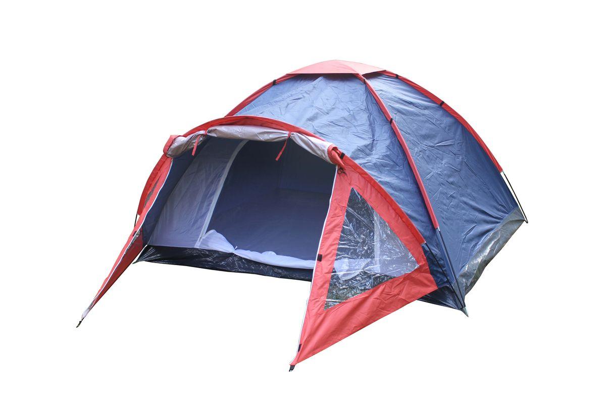 Палатка 4-местная Reka, цвет: синий, красный