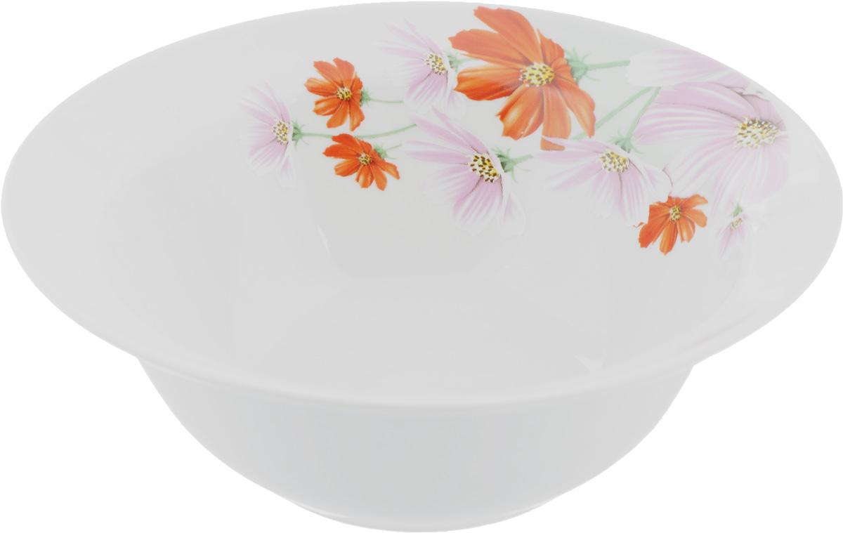 Миска Идиллия. Космея, 550 мл115510Оригинальная миска Идиллия. Космея, изготовленная из высококачественного фарфора, декорирована красочным изображением цветов. Такая миска украсит сервировку вашего стола и подчеркнет прекрасный вкус хозяина, а также станет отличным подарком.
