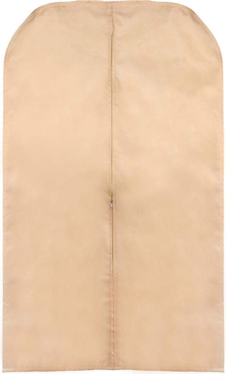 Чехол для одежды Eva, объемный, цвет: бежевый, 65 х 110 х 10 смUP210DFОбъемный чехол для одежды Eva изготовлен из высококачественного полипропилена и нетканого материала. Особое строение полотна создает естественную вентиляцию, позволяя воздуху проникать внутрь, но не пропускает пыль. Чехол очень удобен в использовании. Благодаря наличию боковой вставки увеличивает объем чехла, что позволяет хранить крупные объемные вещи. Это особенно необходимо для меховой, кожаной и шерстяной одежды. Чехол легко открывается и закрывается застежкой-молнией. Чехол для одежды Eva создаст уютную атмосферу в женском гардеробе. Лаконичный дизайн придется по вкусу ценительницам эстетичного хранения и сделают вашу гардеробную изысканной и невероятно стильной.