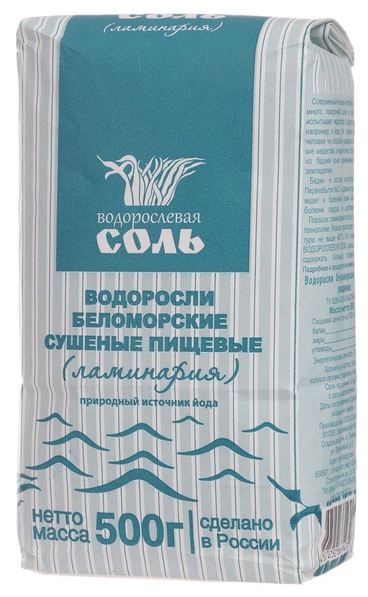 Гарнец Ламинария водорослевая соль, 500 г бтг001