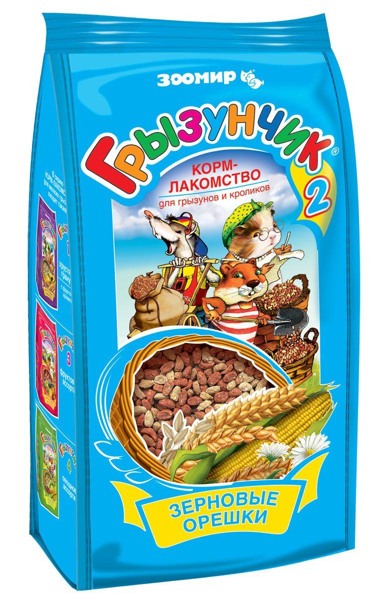 Корм-лакомство для грызунов и кроликов № 2 Грызунчик Зерновые Орешки, 250 г623Гранулированный корм-лакомство для хомяков, морских свинок, мышей, крыс, шиншилл, дегу, песчанок, белок и других декоративных грызунов и кроликов. Этот корм содержит в сбалансированном соотношении все основные питательные вещества (белки, жиры, клетчатку), минеральные вещества и витамины, необходимые для нормального развития и жизнедеятельности Вашего зверька. Поэтому корм ГРЫЗУНЧИК может быть использован в качестве повседневного корма, который необходимо дополнять лишь зелеными и сочными кормами. Корм ГРЫЗУНЧИК по праву называется кормом-лакомством, поскольку он имеет привлекательные для животного вкус и хрустящую структуру, удобные форму и размер гранул, а благодаря применению современных технологий - высокую усвояемость и питательную ценность. Состав: овес, просо, пшеница, кукуруза, ячмень, гречиха, пивные дрожжи, содержащие натуральный комплекс витаминов группы В.