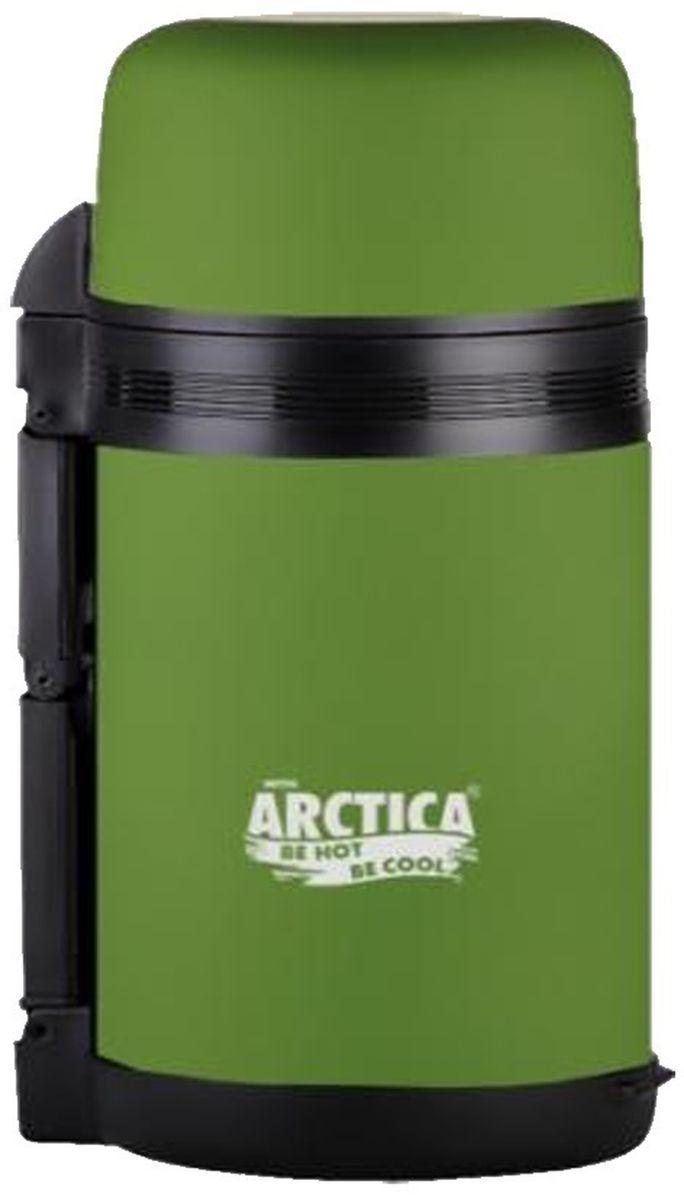 Термос Арктика, с чашами, цвет: болотный, 1 л203-1000 болотныйТермос Арктика сохранит вашу еду или напитки горячими в течение долгого времени. Изделие выполнено из высококачественной нержавеющей стали с элементами из пластика. Термос оснащен крышкой, которую можно использовать в качестве чаши или миски, так же имеется дополнительная чаша и ремешок на плечо для удобной переноски. Пробка термоса состоит из двух составных частей: узкая внутренняя пробка пригодится для напитков, а более широкую внешнюю часть можно снять, чтобы удобнее было доставать из термоса еду. Забудьте об этих неудобствах - вместительный и компактный термос Арктика с радостью послужит вам в качестве миниатюрной полевой кухни, поднимет настроение нарядным внешним видом и вкусной домашней едой. Не рекомендуется мыть в посудомоечной машине. Время сохранения температуры (холодной и горячей): 20 часов. Диаметр широкого горлышка (по верхнему краю): 7,5 см. Диаметр клапана: 6,5 см. Диаметр крышки (по верхнему краю): 10,5...