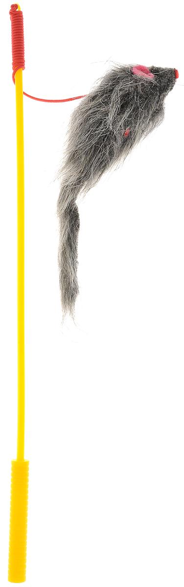 Дразнилка-удочка для кошек V.I.Pet Мышь, цвет: серый, желтыйST-108_серый, желтыйДразнилка-удочка для кошек V.I.Pet Мышь, изготовленная из текстиля и пластика, прекрасно подойдет для веселых игр вашего пушистого любимца. Играя с этой забавной дразнилкой, маленькие котята развиваются физически, а взрослые кошки и коты поддерживают свой мышечный тонус. Кроме того, дразнилка спасет руки владельца от царапин во время игры. Яркая игрушка на конце удочки сразу привлечет внимание вашего любимца, не навредит здоровью и увлечет его на долгое время. Длина удочки: 37 см. Размер игрушки: 10 х 4 х 3 см.