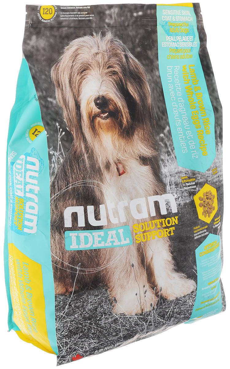 """Корм сухой Nutram """"Ideal Solution Support I20"""" для собак с проблемами кожи, шерсти и пищеварения, с ягненком, бурым рисом и яйцом,"""