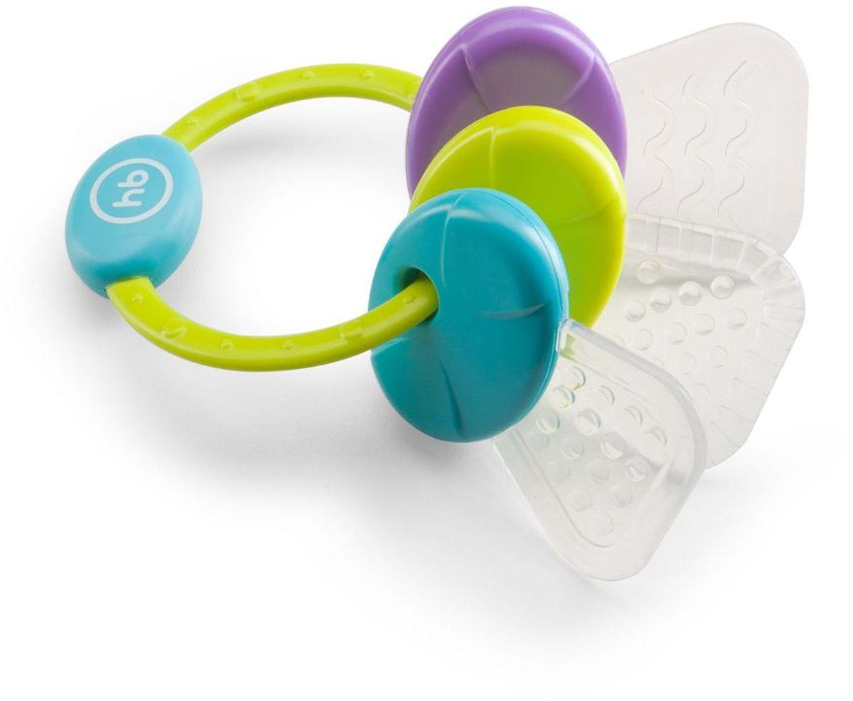 Happy Baby Погремушка-прорезыватель цвет салатовый голубой фиолетовый happy baby прорезыватель погремушка с водой