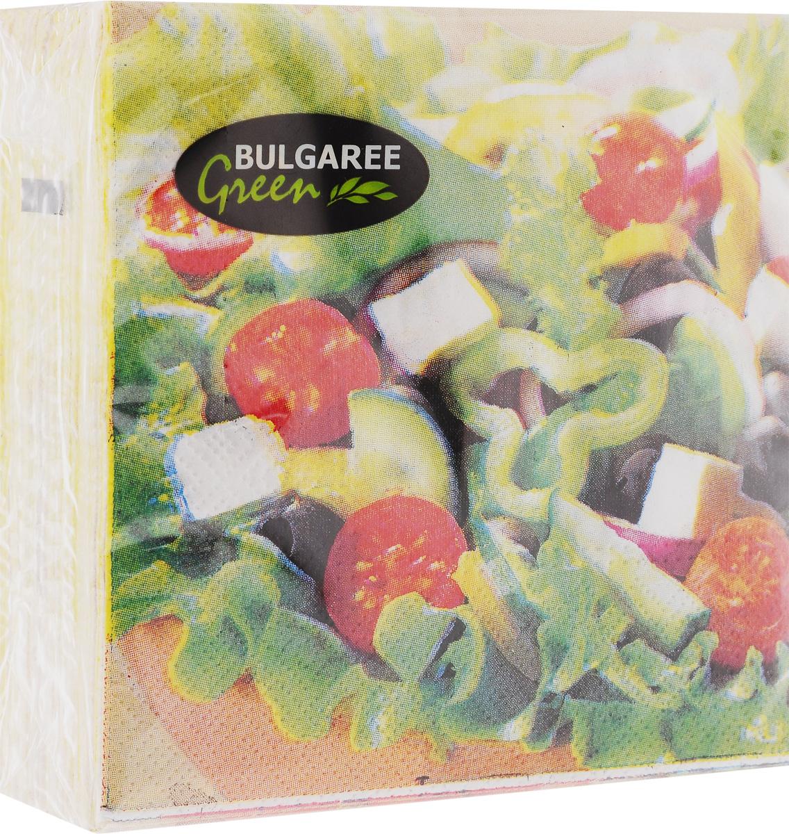 Салфетки бумажные Bulgaree Green Греческий салат, двухслойные, 24 х 24 см, 50 шт790009Декоративные двухслойные салфетки Bulgaree Green Греческий салат выполнены из 100%целлюлозы европейского качества и оформлены ярким рисунком. Изделия станут отличным дополнением любого праздничного стола. Они отличаются необычной мягкостью, прочностью и оригинальностью.Размер салфеток в развернутом виде: 24 х 24 см.