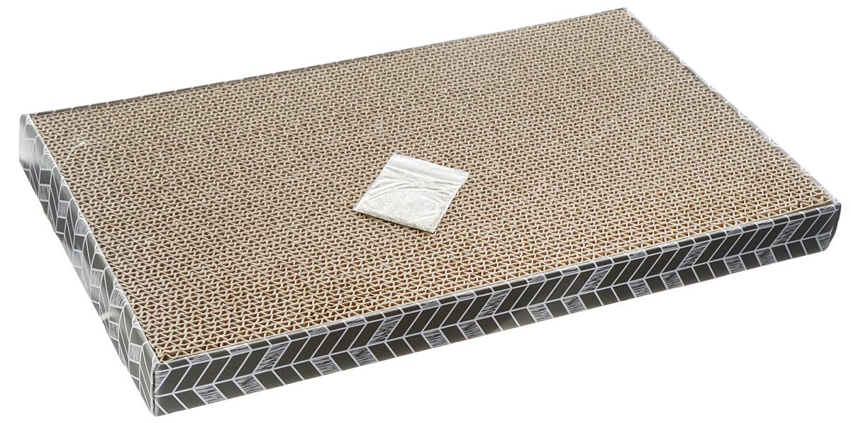 Когтеточка SportPet Designs, гофрированная, с кошачьей мятой, 45 х 25 х 4 см0120710Когтеточка SportPet Designs поможет сохранить мебель и ковры в доме от когтей вашего любимца, стремящегося удовлетворить свою естественную потребность точить когти. Когтеточка изготовлена из гофрированного картона, распложенного в коробке. Товар продуман в мельчайших деталях и, несомненно, понравится вашей кошке. Всем кошкам необходимо стачивать когти. Когтеточка - один из самых необходимых аксессуаров для кошки. Для легкого приучения питомца к изделиюприлагается пакетик с кошачьей мятой.