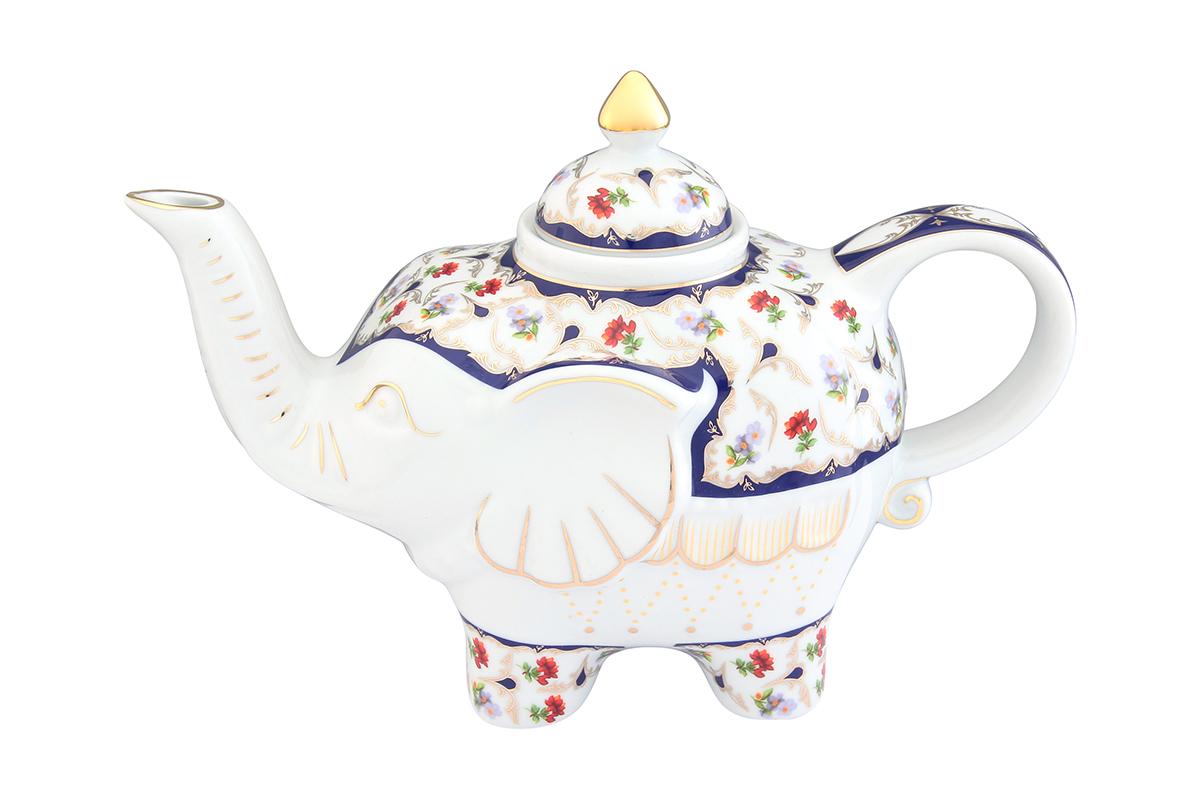 Чайник заварочный Elan Gallery Цветочек, 750 мл504056Загадочная страна Индия: чай, слоны, солнце, праздник! Чайник, выполненный в форме слона, будет напоминать Вам об Индии и наполнит Ваш дом солнечным настроением. Изделие имеет подарочную упаковку, идеальный подарок для Ваших близких! Объем чайника: 750 мл. Размер чайника: 23 х 11 х 15 см.