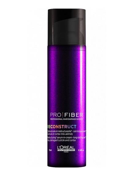 LOreal Professionnel Сыворотка для волос Pro Fiber Reconstruct Leave-In Treatment, 75 мл4605845001470Здоровые, блестящие и крепкие волосы – это настоящее украшение женщины. Но использование фенов, утюжков, химически активных средств краски, лаки, спреи) истощают и пересушивают волосы, а также способствуют появлению перхоти. Поэтому важно также пользоваться специальными сыворотками для волос, которые великолепно восстанавливают и укрепляют волосы. Косметическая линия LOreal Professionnel разработала специальную сыворотку для сухих и поврежденных волос LOreal Professionnel Pro Fiber Reconstruct Leave-In Treatment. Сыворотка для волос обогащена миносиланом – специальным силиконовым соединением кремния для укрепления и восстановления структуры волос. Питательное средство эффективно увлажняет и восстанавливает пересушенные волосы. Уже после первого применения волосы приобретают блеск, становятся менее восприимчивыми к воздействию окружающей среды. Сыворотка эффективно укрепляет волосы, придает блеск, мягкость и шелковистость локонам.