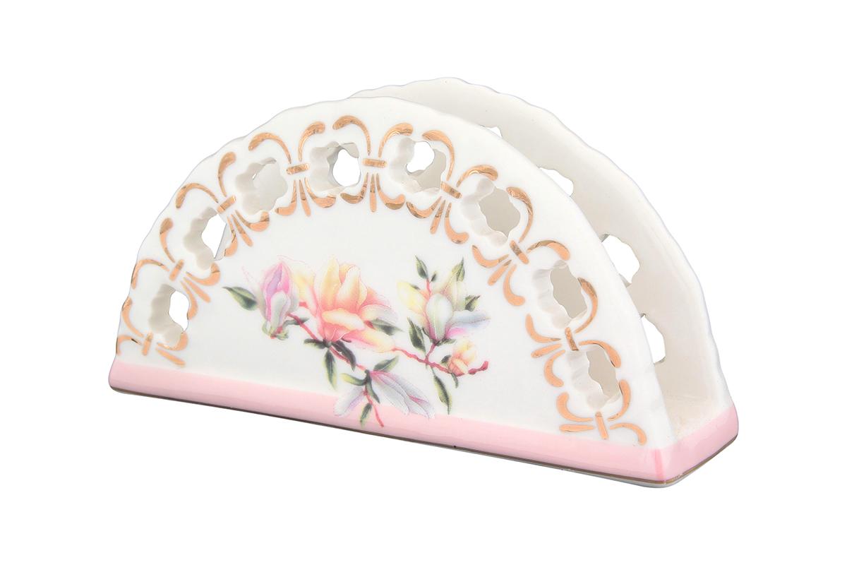 Салфетница Elan Gallery Орхидея на розовом, 13,5 х 4,5 х 7,5 см730513Салфетница Elan Gallery Орхидея на розовом изготовлена из высококачественной керамики и оформлена оригинальным рисунком. Она сочетает в себе изысканный дизайн с максимальной функциональностью. Компактная и в то же время вместительная салфетница станет не только украшением любого стола, но и отличным подарком.