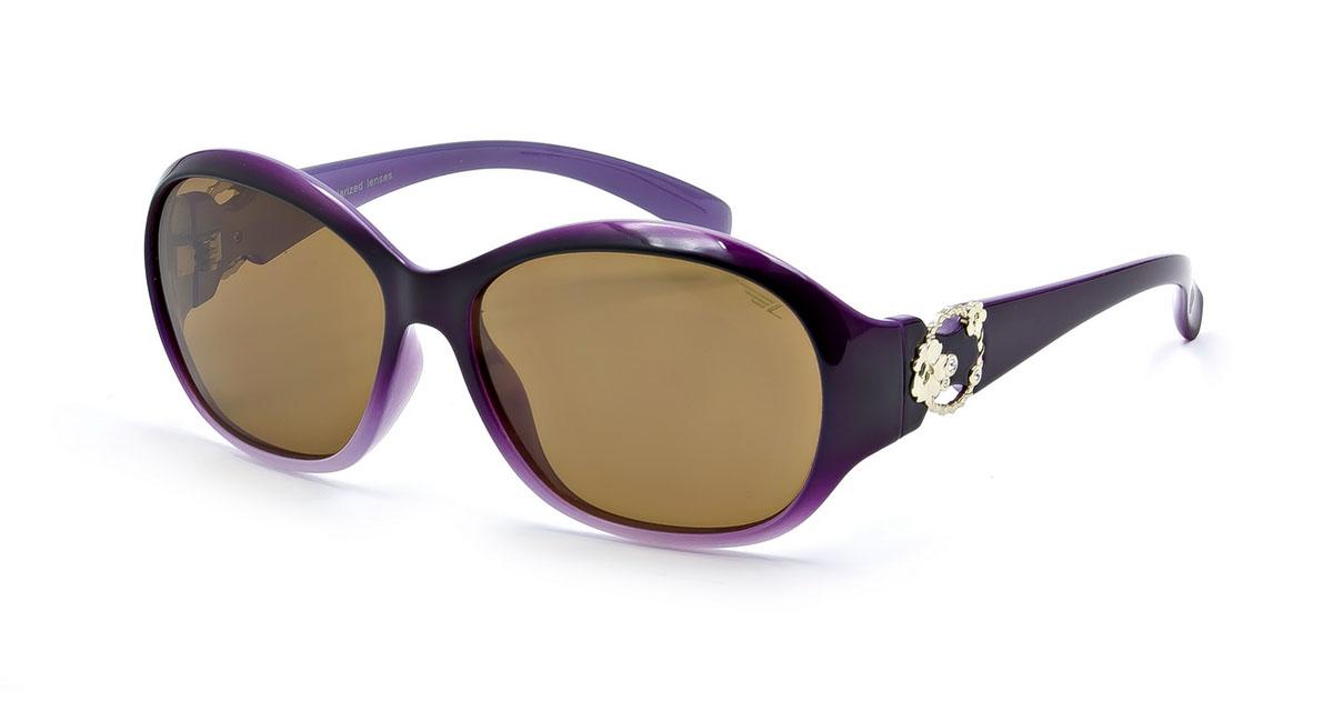 Очки женские поляризационные Legna, цвет: фиолетовый, коричневый. S7222BS7222BСтильные солнцезащитные очки Legna сделают приятной прогулку в жаркий солнечный полдень. Их также по достоинству оценят водители, так как эта модель очков оснащена уникальными поляризационными линзами, которые задерживают раздражающие блики, что гарантирует полный зрительный комфорт и, как результат, повышенную безопасность. Высокоэффективный встроенный УФ фильтр обеспечивает совершенную защиту от вредных ультрафиолетовых лучей Кроме того, это эффектный аксессуар, который наверняка станет «изюминкой» вашего индивидуального стиля. Оправа не только красивая, но и прочная, а линзы со временем не покроются мелкими царапинами. Чистка и обслуживание: Вымыть теплой водой, вытереть мягкой сухой салфеткой. Условия хранения: в футляре при нормальных климатических условиях. Предупреждение: Не использовать в солярии, не смотреть на прямые солнечные лучи, не использовать при управлении автомобилем в сумерках и ночью.