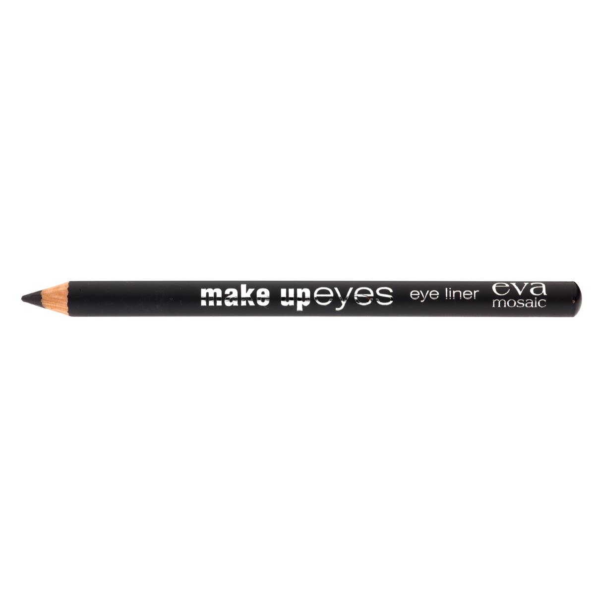 Eva Mosaic Карандаш для глаз Make Up Eyes, 1,1 г, Черный685175Мягкий карандаш для глаз позволяет создавать контур необходимой четкости - от графической точности до мягкой плавности растушеванных линий, придающих взгляду эффект дымчатости. - стойкая формула - натуральные ингредиенты (пчелиный воск, хлопковое, касторовое и арахисовое масла) - три оттенка для разных типов внешности