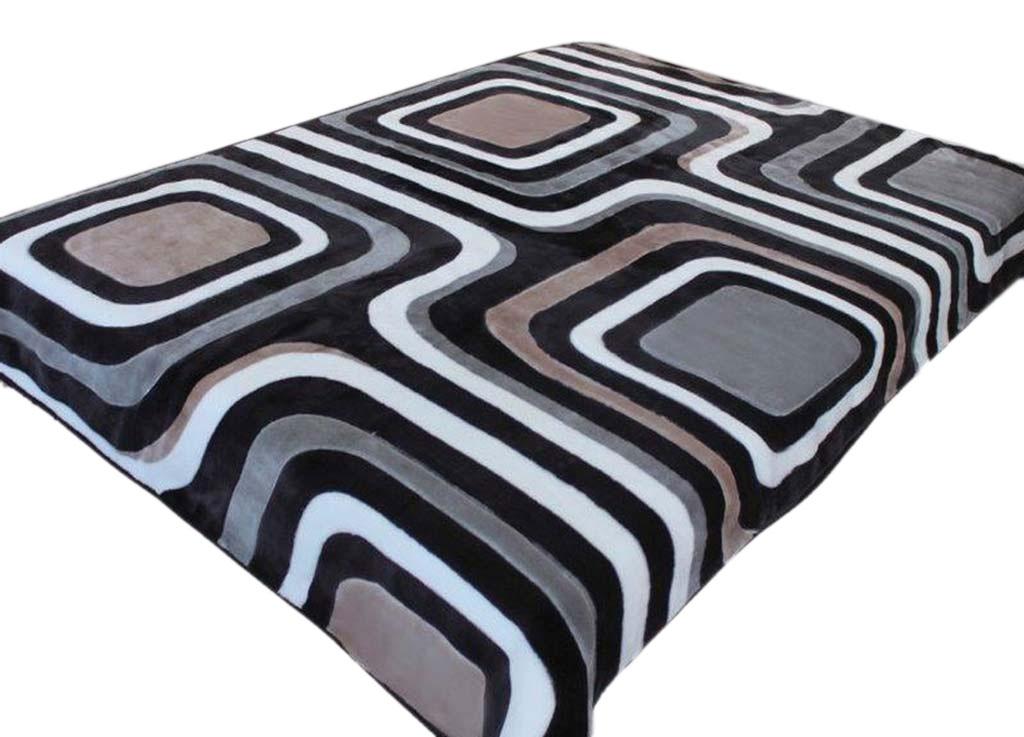 Плед Tamerlan, нестриженый, цвет: синий, черный, 150 х 200 см. 7452574525плотность 400 гр/м2