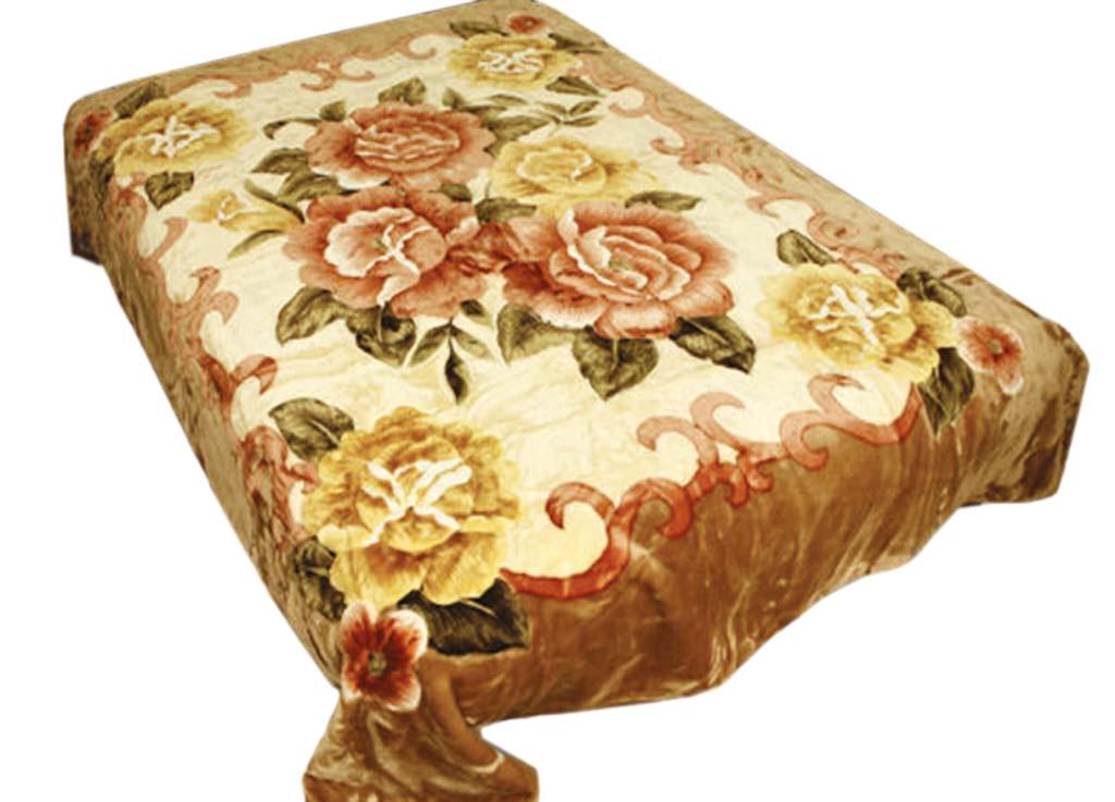 Плед Tamerlan, нестриженый, цвет: светло-коричневый, 150 х 200 см. 74535531-401плотность 400 гр/м2