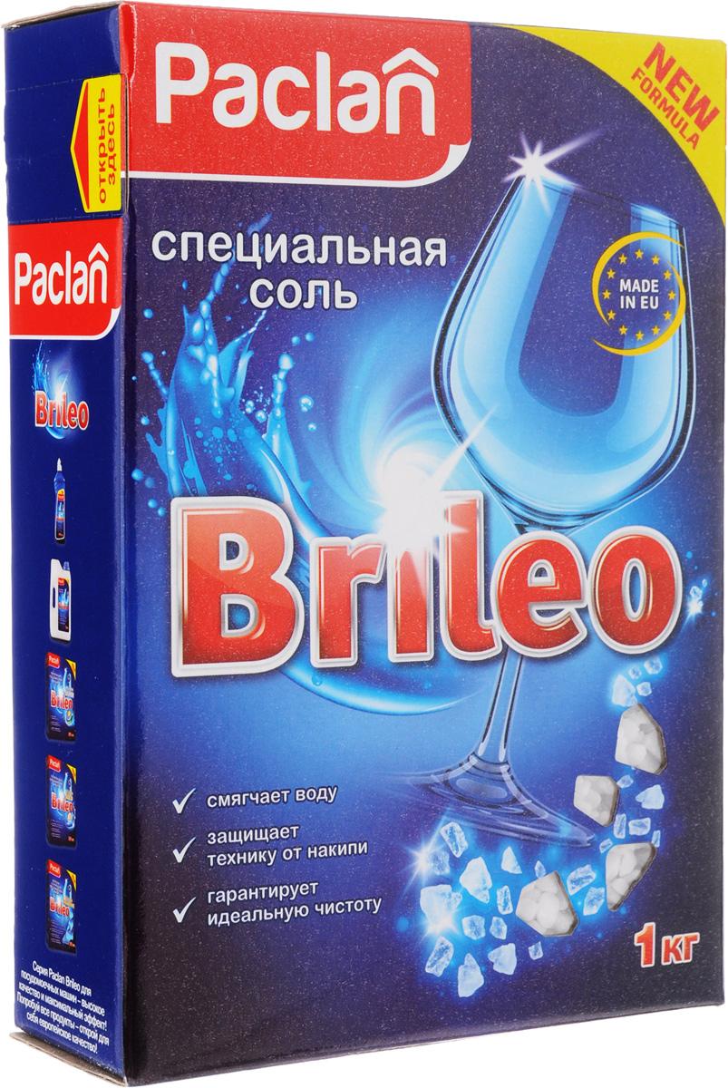 Соль специальная для посудомоченых машин Paclan Brileo, 1 кг419150Специальная соль Paclan Brileo защищает посуду и посудомоечную машину от вредных известковых отложений, образующихся из-за жесткости воды. Смягчает воду, увеличивает эффективность используемого моющего средства, предотвращает появление водяных подтеков. Применяйте соль вместе с порошком и жидкостью для ополаскивания. Состав: крупнокристаллическая каменная соль (хлорид натрия).