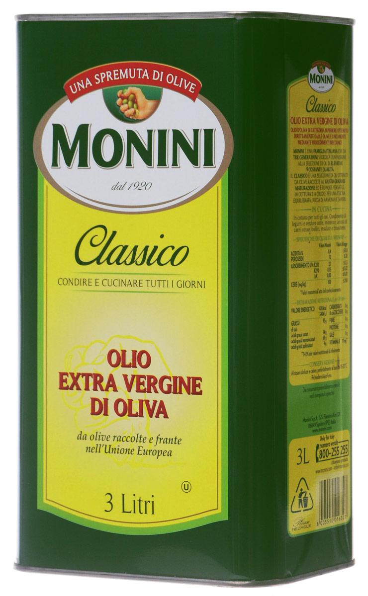 Monini Extra Virgin масло оливковое, 3 л1610023/1Monini Extra Virgin - превосходное нерафинированное оливковое масло первого холодного отжима. Оливки для масел Monini Extra Virgin бережно собираются и перерабатываются строго в течение суток только механическим способом, чтобы сохранить все полезные свойства этих ягод. Натуральный сок оливок проходит только фильтрацию перед тем, как быть разлитым в бутылки.
