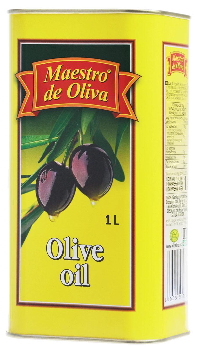 Maestro de Oliva масло оливковое, 1 л1650007/1Оливковое рафинированное масло Maestro de Oliva с добавлением масла нерафинированного. Оливковое масло от Maestro de Oliva - известный и качественный продукт, отмеченный как специалистами, так и обычными потребителями. Масло под этой маркой на протяжении 13 последних лет выигрывало разные престижные премии и награды, как Товар года, а также награждено двумя звездами отличного вкуса престижного конкурса продуктов питания, организованного Международным институтом вкуса и качества в Брюсселе Superior award taste.