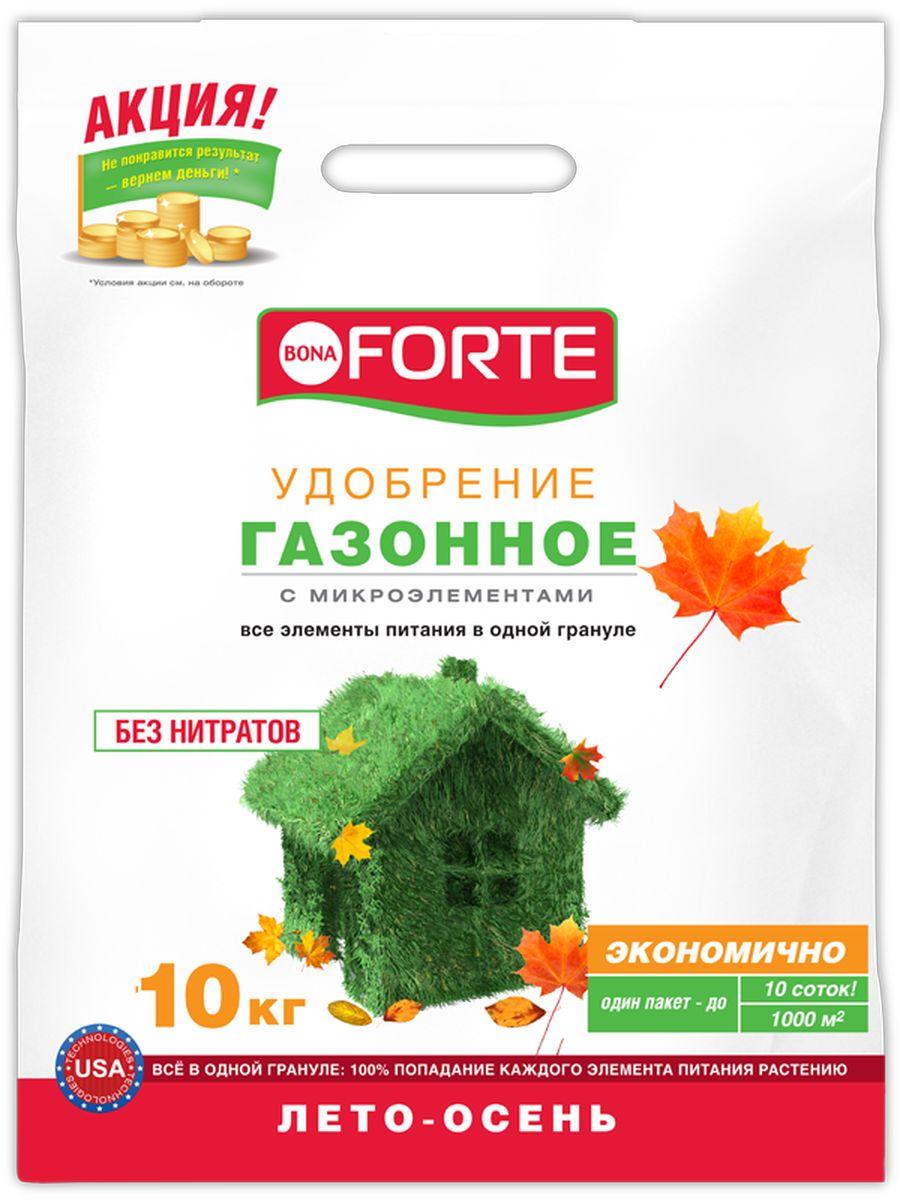 Удобрение комплексное гранулированное Bona Forte, газонное осень марка NPK 8-20-30 с микроэлементами, 10 кгBF-23-01-026-1Уникальная американская технология - все элементы в одной грануле, равномерное внесение удобрения, экономичное расходование, отличный результат.