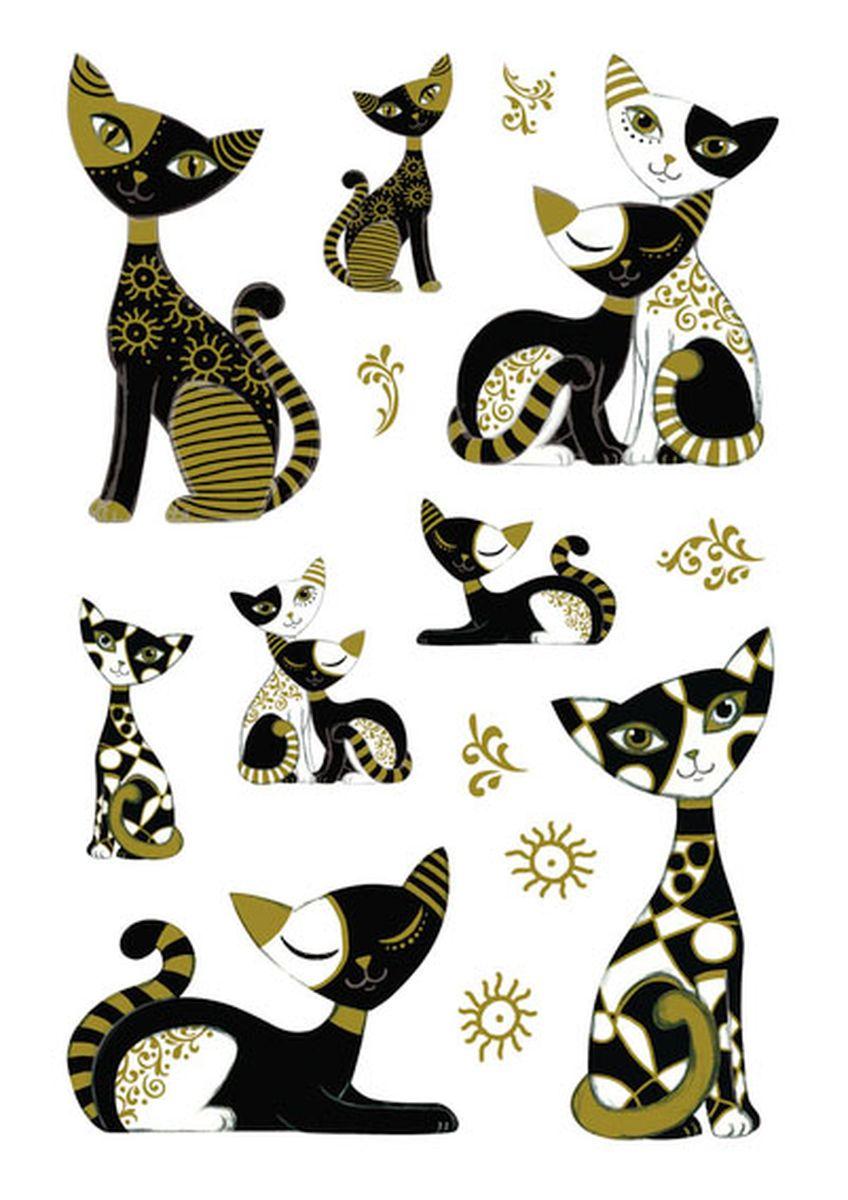 Herma Наклейки Magic Золотой кот3176Наклейки из твердого силикона с обсыпкой из блёсток. На рисунок наклейки нанесены разноцветные блестки, позволяя ему переливаться и блестеть на свету.