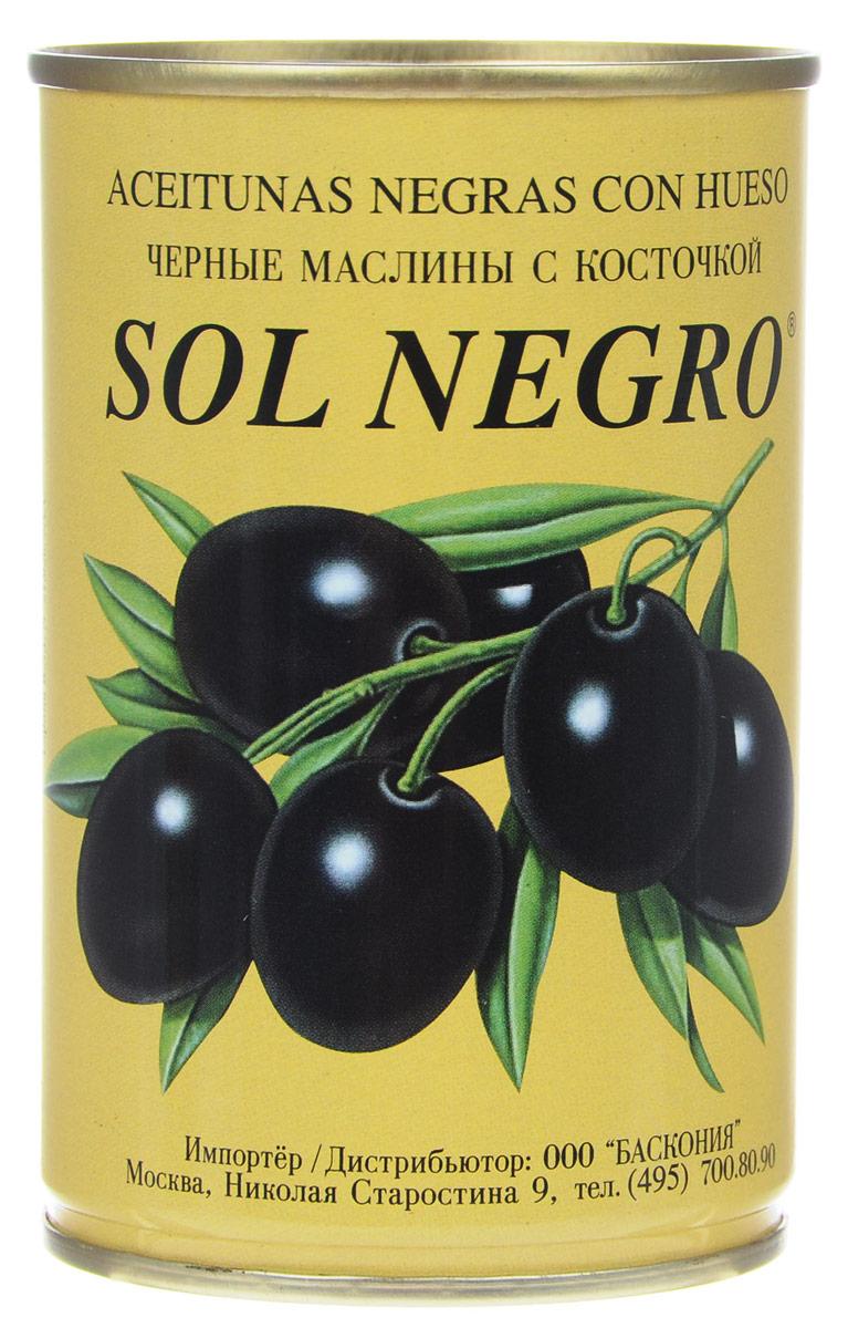 Sol Negro маслины черные с косточкой, 360 г0720002Превосходные черные маслины Sol Negro с косточкой. Оливки и маслины Sol Negro - давно знакомый потребителям бренд, один из лидеров в данной категории продуктов.