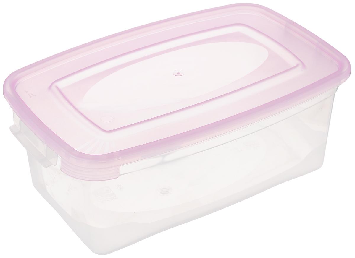 Контейнер Полимербыт Каскад, цвет: прозрачный, розовый, 1 лС570_розовыйКонтейнер Полимербыт Каскад прямоугольной формы, изготовленный из прочного пластика, предназначен специально для хранения пищевых продуктов. Крышка легко открывается и плотно закрывается. Контейнер устойчив к воздействию масел и жиров, легко моется. Прозрачные стенки позволяют видеть содержимое. Контейнер имеет возможность хранения продуктов глубокой заморозки, обладает высокой прочностью. Подходит для использования в микроволновых печах. Можно мыть в посудомоечной машине.