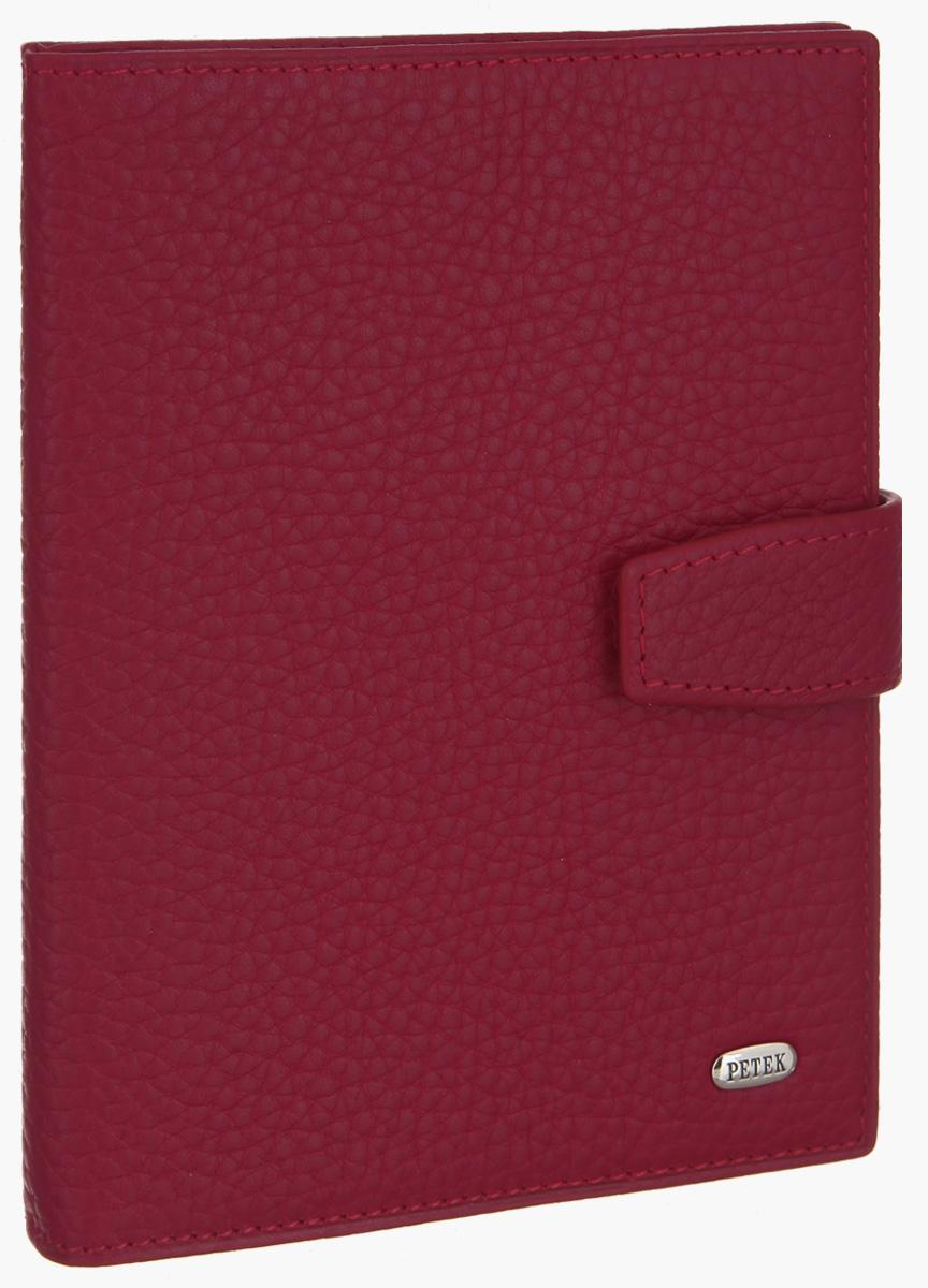 Обложка для паспорта и автодокументов Petek 1855, цвет: красный. 595.46BD.10595.46BD.10 RedОбложка для паспорта и автодокументов Petek 1855 выполнена из натуральной кожи с фактурным тиснением. Внутри имеет отделение для паспорта, два боковых сетчатых кармана и съемный блок из шести прозрачных файлов из мягкого пластика, один из которых формата А5. Обложка закрывается на хлястик с кнопкой. Обложка упакована в фирменную коробку. Изделие сочетает в себе классический дизайн и функциональность. Обложка не только поможет сохранить внешний вид ваших документов и защитит их от повреждений, но и станет стильным аксессуаром, который подчеркнет ваш неповторимый стиль.