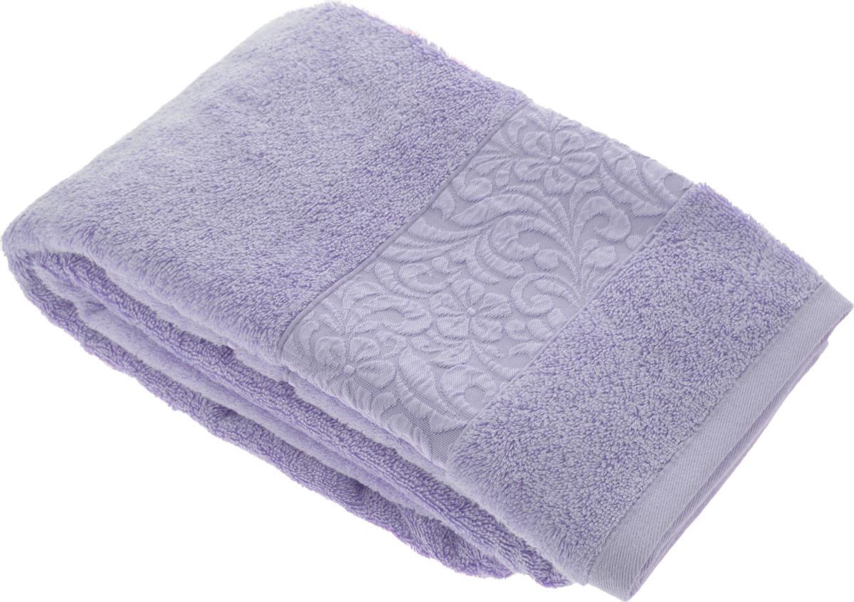 Полотенце бамбуковое Issimo Home Valencia, цвет: фиолетовый, 70 x 140 см4789Полотенце Issimo Home Valencia выполнено из 60% бамбукового волокна и 40% хлопка. Таким полотенцем не нужно вытираться - только коснитесь кожи - и ткань сама все впитает. Такая ткань впитывает в 3 раза лучше, чем хлопок. Несмотря на высокую плотность, полотенце быстро сохнет, остается легкими даже при намокании. Изделие имеет красивый жаккардовый бордюр, оформленный цветочным орнаментом. Благородные, классические тона создадут уют и подчеркнут лучшие качества махровой ткани, а сочные, яркие, летние оттенки создадут ощущение праздника и наполнят дом энергией. Красивая, стильная упаковка этого полотенца делает его уже готовым подарком к любому случаю.