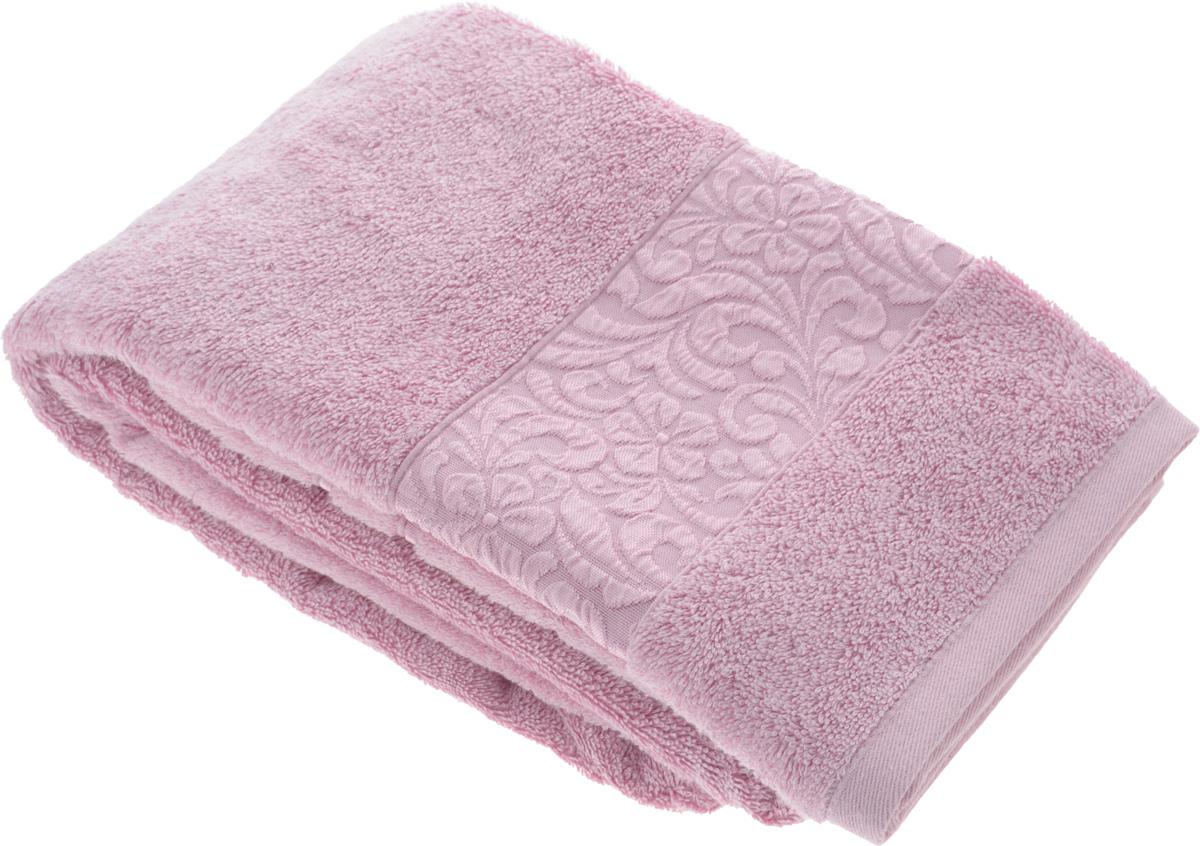 Полотенце бамбуковое Issimo Home Valencia, цвет: светло-пурпурный, 70 x 140 см4769Полотенце Issimo Home Valencia выполнено из 60% бамбукового волокна и 40% хлопка. Таким полотенцем не нужно вытираться - только коснитесь кожи - и ткань сама все впитает. Такая ткань впитывает в 3 раза лучше, чем хлопок. Несмотря на высокую плотность, полотенце быстро сохнет, остается легкими даже при намокании. Изделие имеет красивый жаккардовый бордюр, оформленный цветочным орнаментом. Благородные, классические тона создадут уют и подчеркнут лучшие качества махровой ткани, а сочные, яркие, летние оттенки создадут ощущение праздника и наполнят дом энергией. Красивая, стильная упаковка этого полотенца делает его уже готовым подарком к любому случаю.