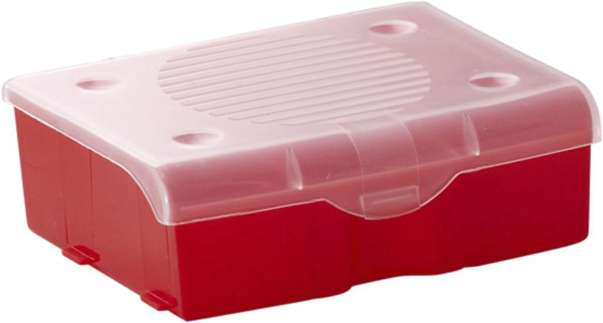 Органайзер для мелочей Blocker, цвет: красный, 11 х 9 х 4,2 смПЦ3713КРПР-40PSОрганайзер для мелочей Blocker предназначен для оптимальной организации пространства. Внутреннее деление на 3 секции делает удобным размещение внутри блока деталей, которые необходимо отделить друг от друга, а прозрачная крышка позволяет увидеть содержимое, не открывая блок. Подходит для хранения швейных принадлежностей, мелких деталей и рыболовных снастей. Крышка плотно закрывается и предотвращает потерю содержимого.