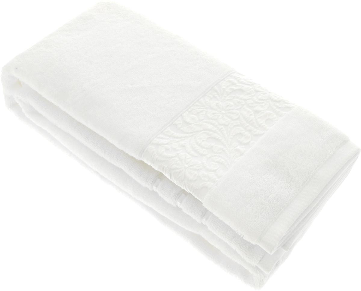 Полотенце бамбуковое Issimo Home Valencia, цвет: белый, 90 x 150 см531-401Полотенце Issimo Home Valencia выполнено из 60% бамбукового волокна и 40% хлопка. Таким полотенцем не нужно вытираться - только коснитесь кожи - и ткань сама все впитает. Такая ткань впитывает в 3 раза лучше, чем хлопок.Несмотря на богатую плотность и высокую петлю полотенца, оно быстро сохнет, остается легким даже при намокании.Бамбуковое полотенце имеет красивый жаккардовый бордюр, выполненный с орнаментом в цвет полотенца. Благородный, классический тон создаст уют и подчеркнет лучшие качества махровой ткани, а сочный, яркий, летний оттенок создаст ощущение праздника и наполнит дом энергией. Красивая, стильная упаковка этого полотенца делает его уже готовым подарком к любому случаю.