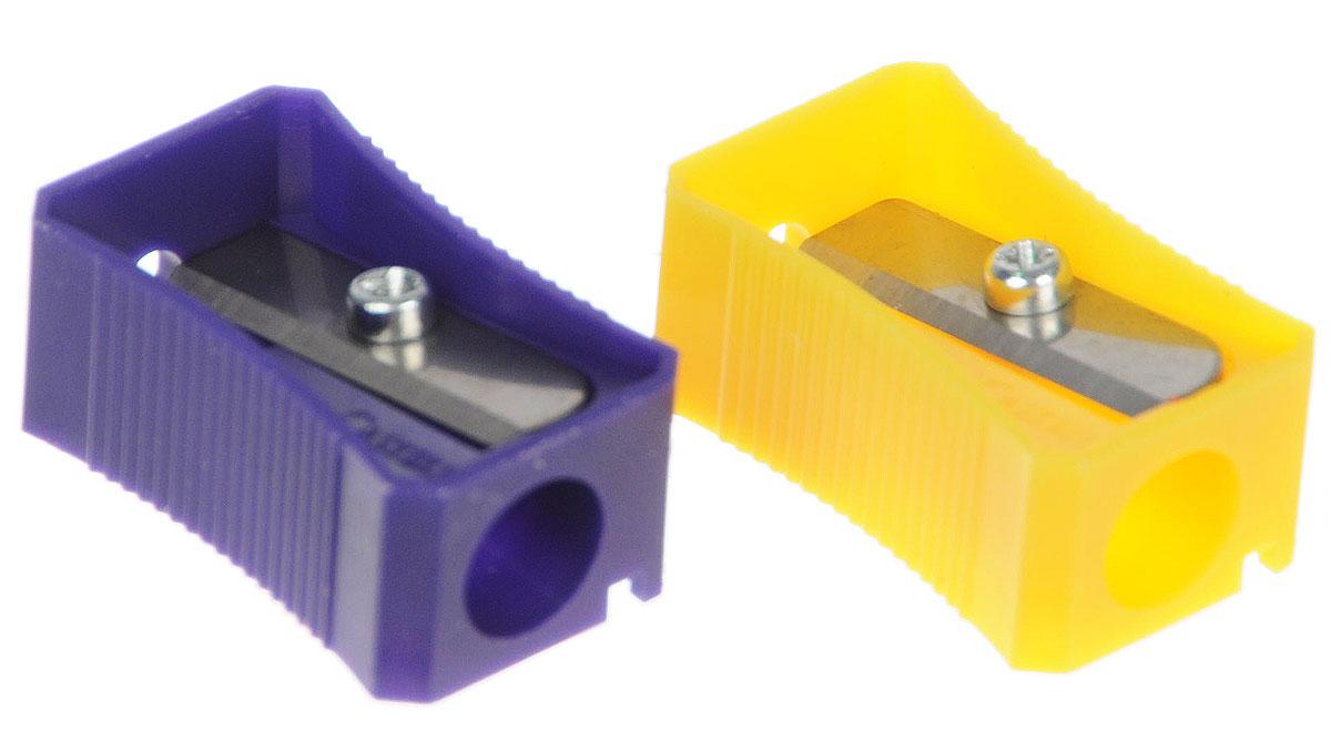 Faber-Castell Точилка цвет фиолетовый желтый 2 шт72523WDТочилка Faber-Castell предназначена для затачивания классических простых и цветных карандашей.В наборе две точилки из прочного пластика зеленого и розового цветов с рифленой областью захвата. Острые лезвия обеспечивают высококачественную и точную заточку деревянных карандашей.