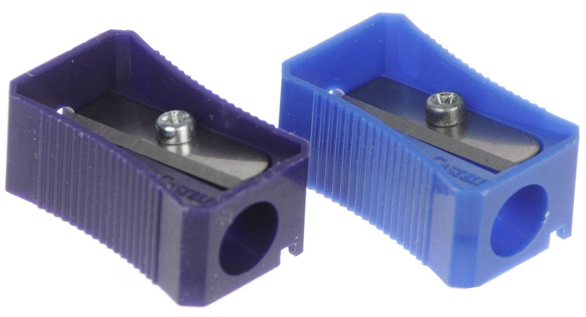 Faber-Castell Точилка цвет синий фиолетовый 2 шт665-SBТочилка Faber-Castell предназначена для затачивания классических простых и цветных карандашей.В наборе две точилки из прочного пластика синего и фиолетового цветов с рифленой областью захвата. Острые лезвия обеспечивают высококачественную и точную заточку деревянных карандашей.
