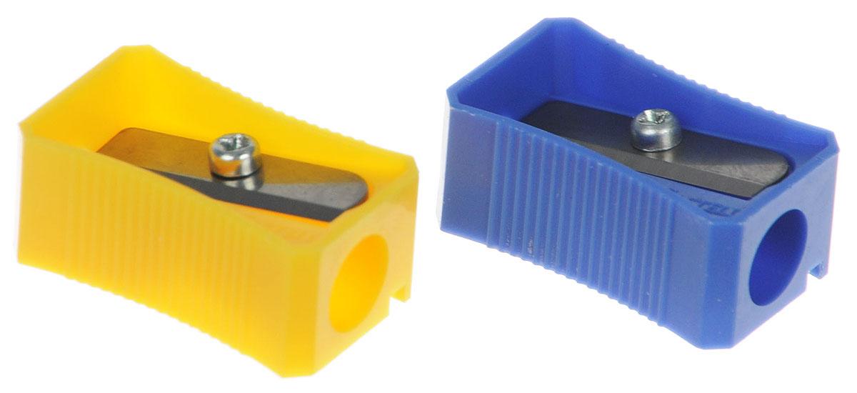 Faber-Castell Точилка цвет синий желтый 2 шт263221_синий, желтыйТочилка Faber-Castell предназначена для затачивания классических простых и цветных карандашей. В наборе две точилки из прочного пластика синего и желтого цветов с рифленой областью захвата. Острые лезвия обеспечивают высококачественную и точную заточку деревянных карандашей.