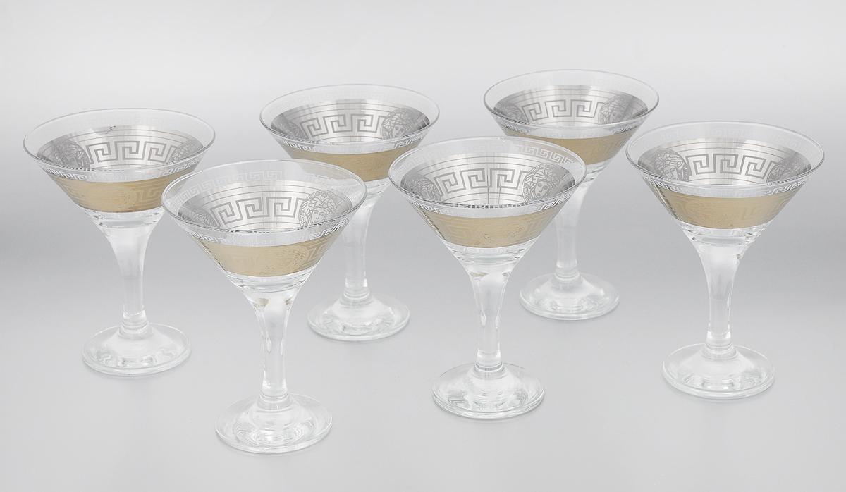 Набор бокалов для мартини Мусатов Йети, 170 мл, 6 шт410/41Набор Мусатов Йети состоит из 6 бокалов, изготовленных из высококачественного стекла. Изделия оформлены оригинальной окантовкой и предназначены для подачи мартини. Такой набор прекрасно дополнит праздничный стол и станет желанным подарком в любом доме. Разрешается мыть в посудомоечной машине. Диаметр бокала (по верхнему краю): 11 см. Высота бокала: 13,7 см. Диаметр основания бокала: 6,5 см.